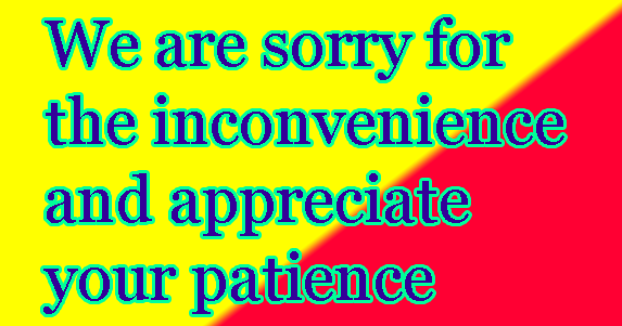 We are sorry for the inconvenience and appreciate your patience